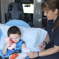 kid in ambulance