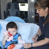 kid in ambulance